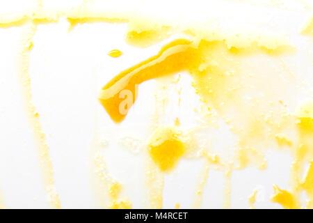 Isolated photo of orange jam. Abstract background. - Stock Photo