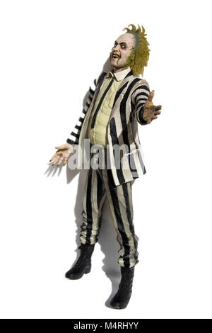 Portugal, Algarve, Circa 15.02.2018. Isolated on white background image shot of a highly detailed Neca figure of - Stock Photo
