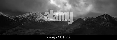 View from Causey Pike in the English Lake District - Stock Photo