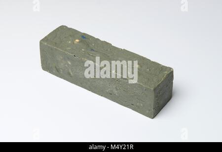 Handmade Soap bars isolated on white background - Stock Photo
