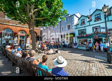 Bridport Town Market in Dorset - Stock Photo