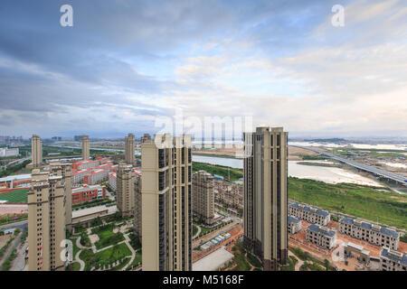 Xiamen Binhai New Town in China - Stock Photo