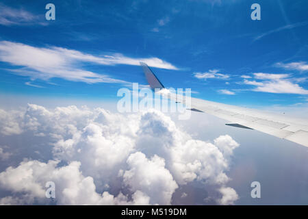 the view from the window of a passenger plane - Stock Photo
