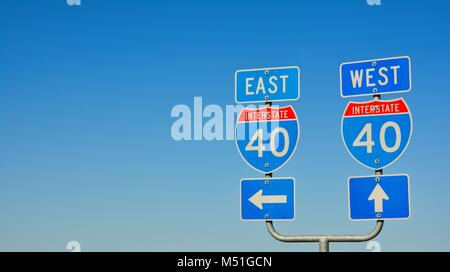 Route 66 road signs on Texas, US. - Stock Photo