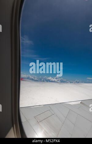 porthole view inside - Stock Photo