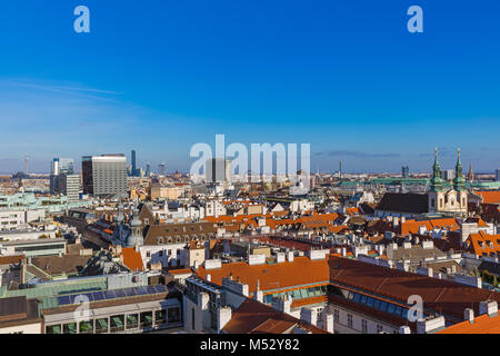View from Saint Stephan cathedral in Vienna Austria - Stock Photo