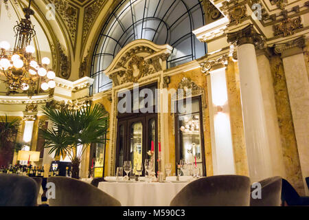 Interior of  the Salon 1905, a gourmet restaurant in Belgrade Serbia - Stock Photo