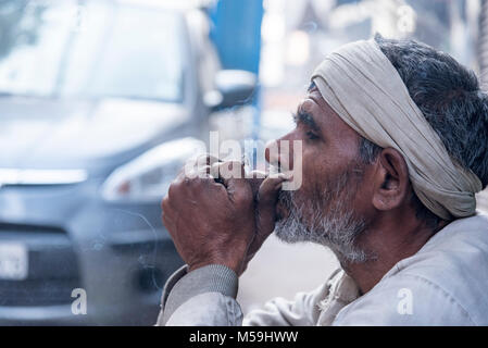 An early morning scene of old delhi, India - Stock Photo