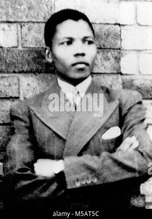 Mandela, taken in Umtata in 1937 Nelson Rolihlahla Mandela (1918 - 2013) South African anti-apartheid revolutionary - Stock Photo