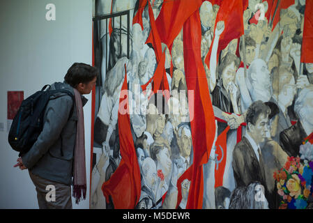 Turin, Piedmont, Italy. 22nd Feb, 2018. Turin, Italy-February 22, 2018: Renato Guttuso art exhibition at the GAM - Stock Photo