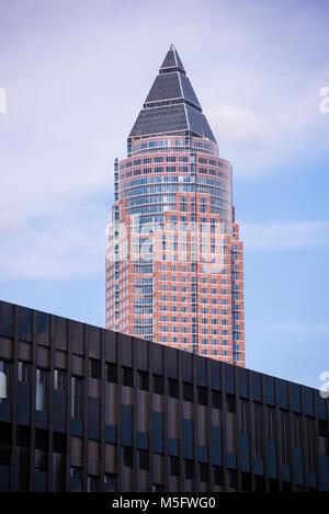 Messeturm, Frankfurt, Hessen, Deutschland, Europa - Stock Photo