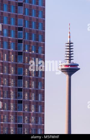 Fernsehturm, Frankfurt, Hessen, Deutschland, Europa - Stock Photo