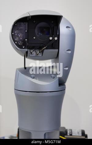 Video surveillance camera with robotic control - Stock Photo