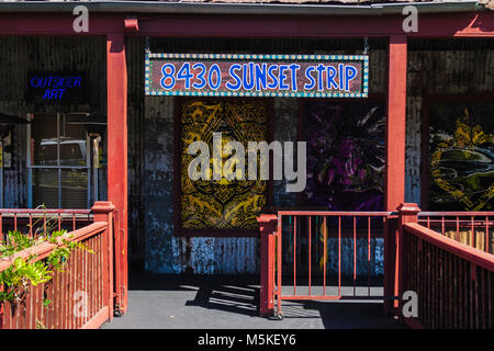 LOS ANGELES, CALIFORNIA - JULY 19, 2007: Former Los Angeles House of Blues on the Sunset Boulevard, Los Angeles, - Stock Photo
