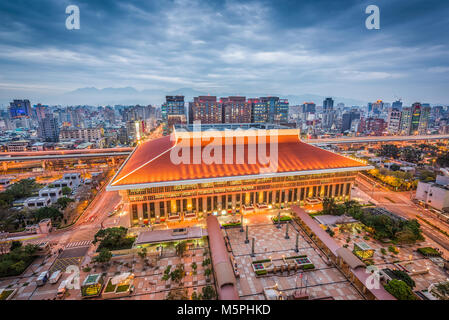 Taipei, Taiwan cityscape over the station. - Stock Photo