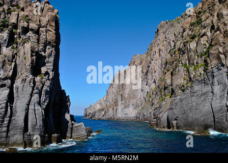 Passage between the rocks on the sea - Stock Photo