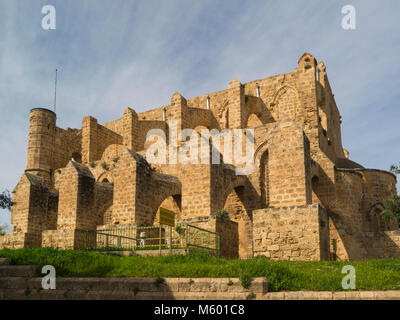 Church of Sts. Peter and Paul (1359) was converted into a mosque in 1571  renamed as the Sinan Pasha Mosque Famagusta - Stock Photo