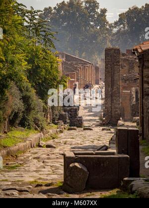 Pompeii ruins, Italy. - Stock Photo