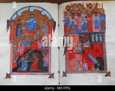 Armenia Yeveran Materadaran illuminated codices and manuscripts of the thirteenth century - Stock Photo
