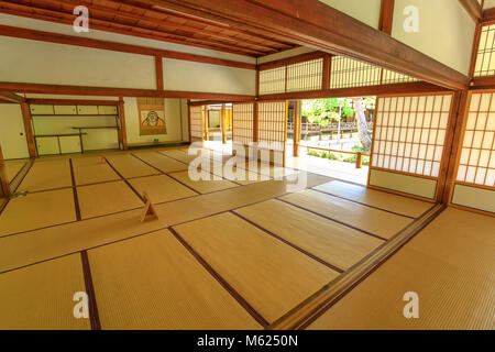 Kyoto, Japan - April 27, 2017: Tenryu-ji Temple Zen, the most important Temple in Arashiyama. Inside one of the - Stock Photo