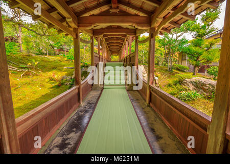 Kyoto, Japan - April 27, 2017:Architecture of Zen Temple Tenryu-ji in Arashiyama in the mountains on western outskirts - Stock Photo