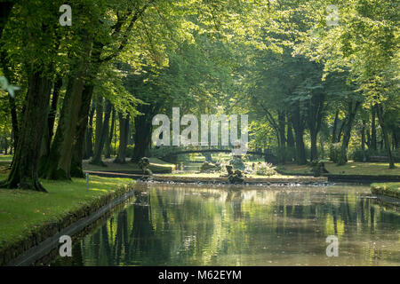 the Court Garden (Hofgarten) of the Neues Schloss or New Palace, Bayreuth, Germany - Stock Photo