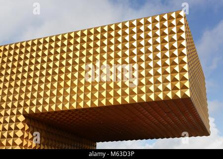 Roskilde, Denmark - September 10, 2017: Ragnarock museum. Ragnarock is a museum of pop, rock and youth culture, - Stock Photo