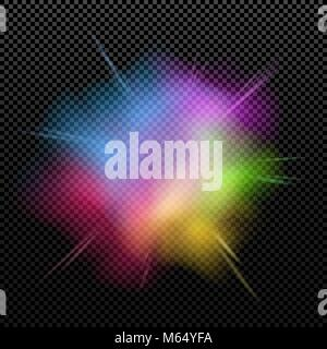 Explosion of colors is isolated on a transparent background. Multicolor splatter. Happy Holi. Holiday of colors. - Stock Photo