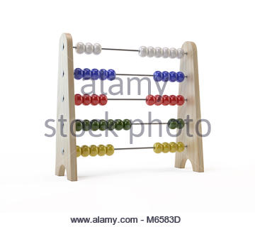 Abacus. Isolated On White Background - Stock Photo