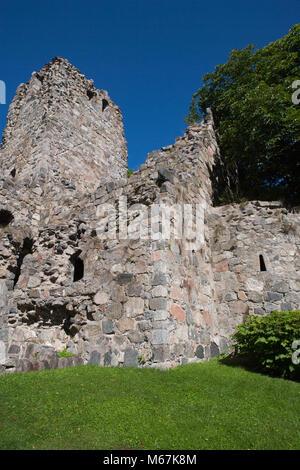 St. Olaf's Church Ruins, S:t Olofs Kyrkoruin, Mariakyrkan, Saint Mary's Church (Sigtuna, Sweden) - Stock Photo