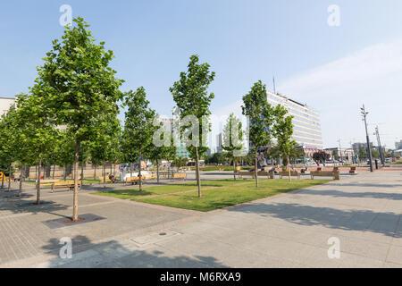 Katowice /view of city center - Stock Photo