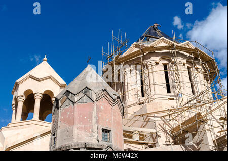 Katoghike Holy Mother of God Church, Kat'oghike Surp Astvatsatsin yekeghetsi, is a small medieval Church in Yerevan,Armenia. - Stock Photo