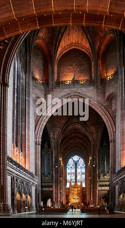 Liverpool Anglican Cathedral (official name Cathedral Church of Christ in Liverpool) is a Church of England cathedral - Stock Photo