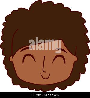 smiling happy face boy male young character - Stock Photo
