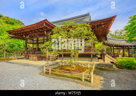 Kyoto, Japan - April 27, 2017: Taho-den hall or Hall of Many Treasures in Tenryu-ji, the most important Temple Zen, - Stock Photo