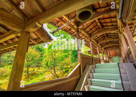 Kyoto, Japan - April 27, 2017:Architecture of Zen Temple Tenryu-ji in Arashiyama on western outskirts of Kyoto, - Stock Photo