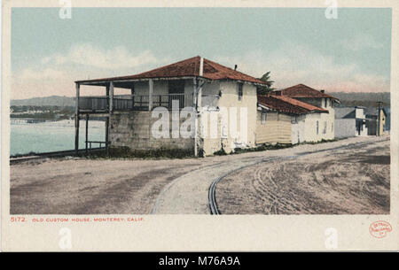 Monterey CA - Old Custom House (NBY 432125) - Stock Photo