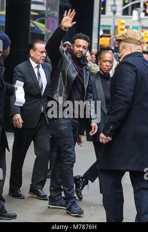 New York, New York, USA. 9th Mar, 2018. The Jamaican singer Shaggy is seen leaving a tv show ''Good Morning America'' - Stock Photo