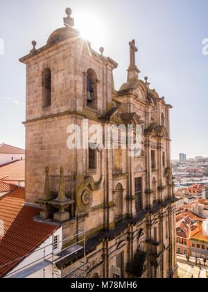 PORTO, PORTUGAL - FEBRUARY 12, 2018: Sao Lourenco Church and Convent in Porto, Portugal, populary known as Igreja - Stock Photo