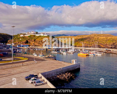 Port in Vila do Porto, Santa Maria Island, Azores, Portugal, Atlantic, Europe - Stock Photo