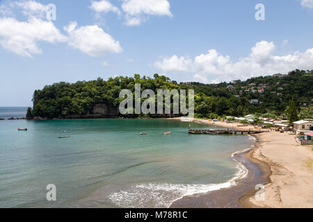 The beach at Anse la Raye, St. Lucia, Windward Islands, West Indies Caribbean, Central America - Stock Photo