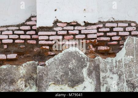 Authentic old brick wall - Stock Photo