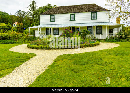 The Mission House, also called the Kemp House, Kerikeri, North Island, New Zealand. It is the oldest extant wooden - Stock Photo