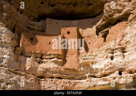 Ruins of a castle, Montezuma Castle, Montezuma Castle National Monument, Arizona, USA - Stock Photo