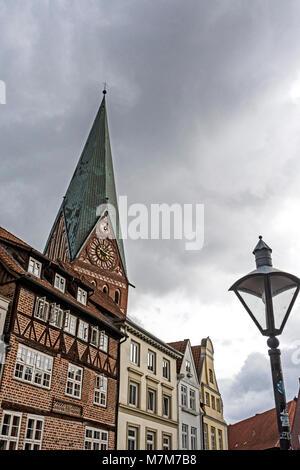 Lüneburg (Germany), St. Johannis Kirche; Lueneburg, Church of St. John - Stock Photo