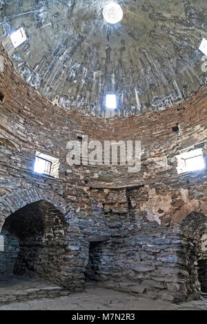Interior of Tash Rabat, Kyrgyzstan. - Stock Photo