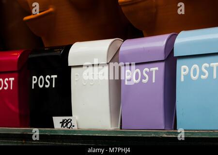 Home post boxes for sale. Copenhagen Denmark - Stock Photo