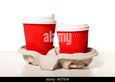 Set of paper cups - Stock Photo