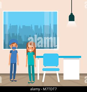 medical people cartoon - Stock Photo