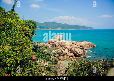 NHA TRANG,VIETNAM - FEBRUARY 17,2018: Hon Chong cape, Garden stone, popular tourist destinations at Nha Trang. Vietnam - Stock Photo
